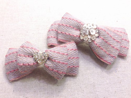 Winter new Korean ribbon bow hairpin group -D1219-04
