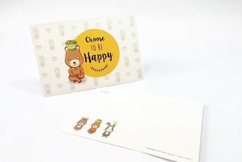 It is precisely the energy full series card. Funny bear illustration