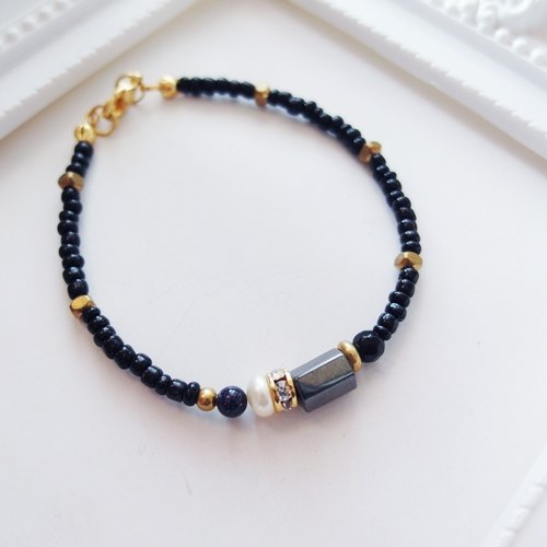 Cha mimi. Gorgeous low-key. Minimalist natural stones bracelet classical minimalism wheel