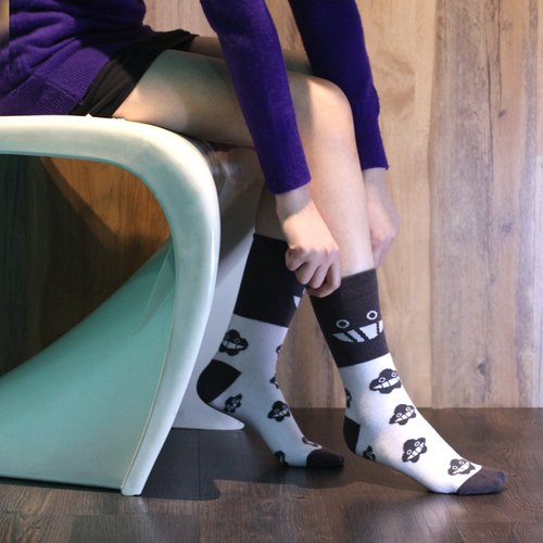 Dustykid smiling dark gray socks