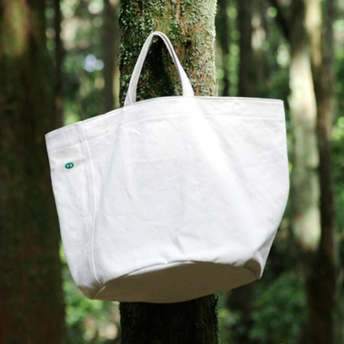 Mogu mushrooms washed canvas / handbag / Camping / The White