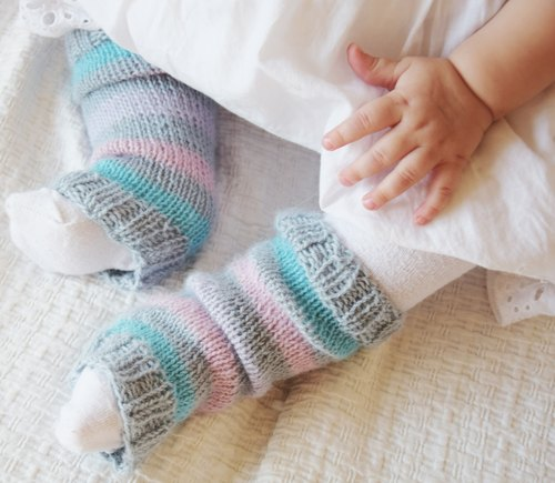 Baby Leg Warmers - Hand Knit Baby Leg Warmers - Toddler Boot Cuffs - Baby Shower Gift - Alpaca Leg Warmers - Unisex Baby Gift - Baby Legwear