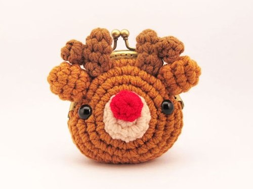Red nose and elk - mouth gold package - Purse