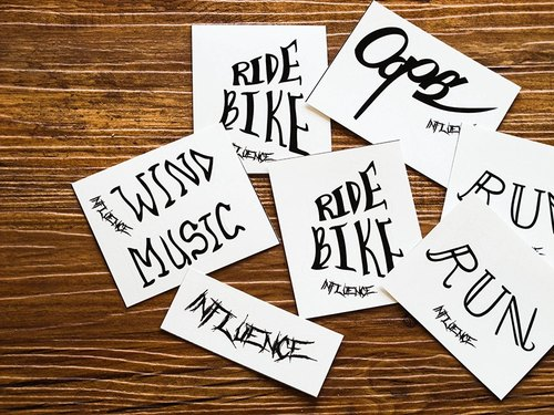 Handsome English words // Stickers