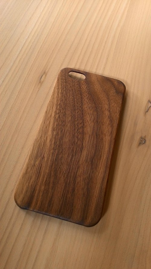 "Micro forest. iPhone 6 pure wood Wooden Phone Case - ""Walnut"" BB04-U1004- donated wooden phone holder"