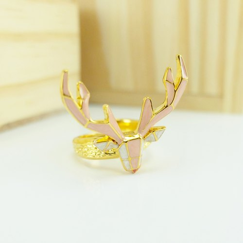 Glorikami Pink Deer Origami Ring
