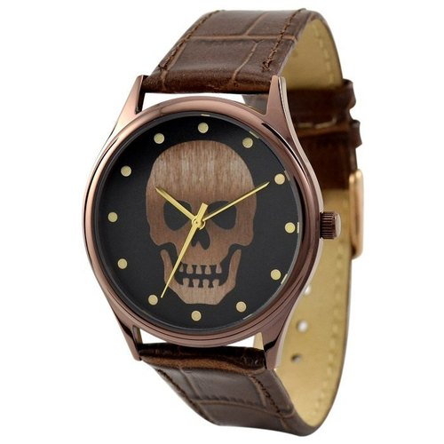Skull Watch (Brown / Dots)