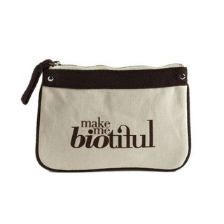 法國my biotiful bag有機棉Small Flat Pouch-Brown