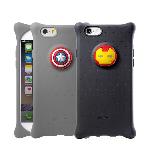 Bone iPhone 6 / 6S Bubble Sleeve - Iron Man / Captain America