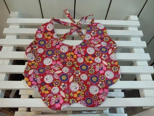 Floral colorful twists baby bibs