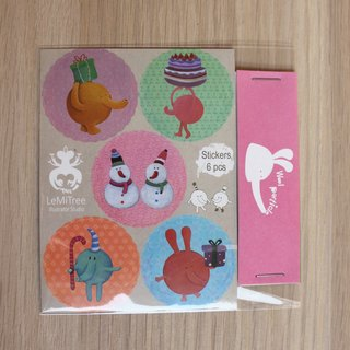Mao particle gift stickers
