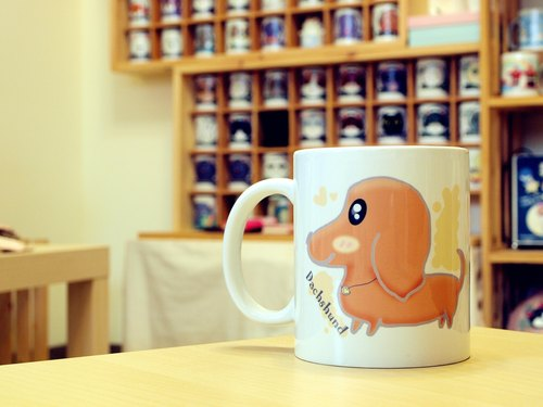 """NONCOOL‧ Cool farming"" sausage (short hair). Mug / straight cup (300ml)"