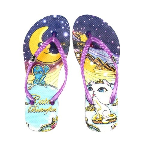 QWQ creative design flops -Catch Butterflies- purple [ST0431503]