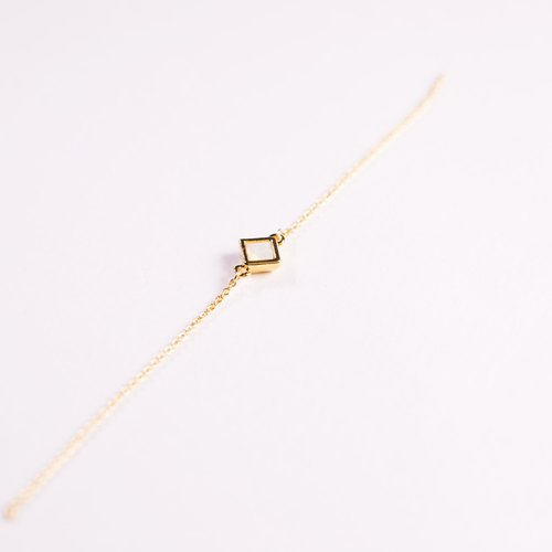 Japan Limited Square bracelet - white milk exchanging gifts for Mother's Day New Year Valentine's Day gift