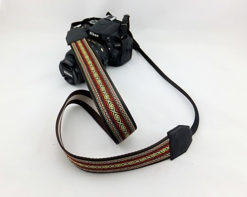 Camera strap can print personalized custom leather stitching national wind embroidery pattern 047
