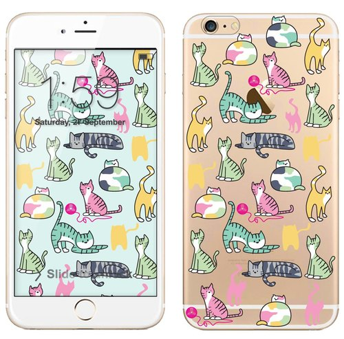 Transparent Phone Case - Cats (background download)