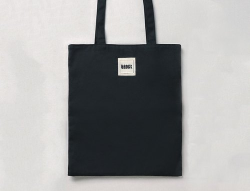 Unstamped wind-face hand-made tote bag L / Black