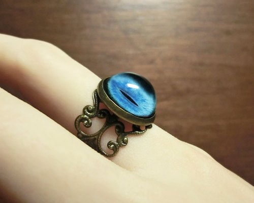 Carved bronze - pupil Ring