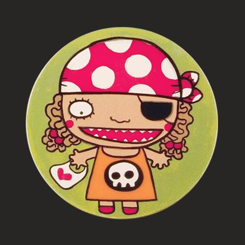 Art Clay absorbent coaster - Little Lady Pirate