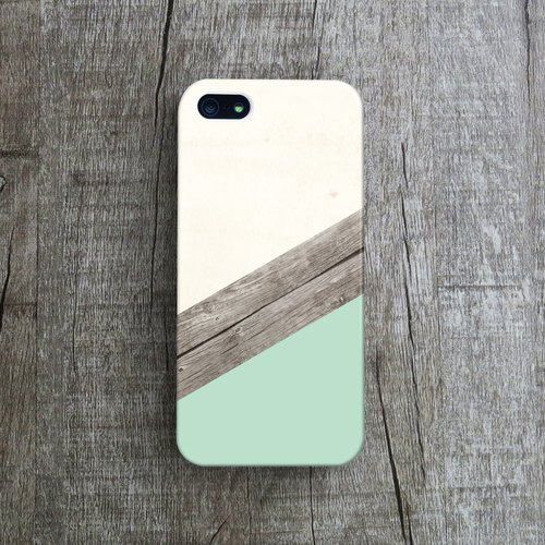 OneLittleForest - Original Mobile Case - iPhone 4, iPhone 5, iPhone 5c- handmade paper wood mosaic