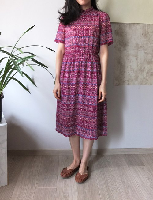 MétaFormose's pick Japan Bohemian national wind vintage print dress