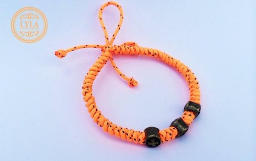 Fluorescent orange - fine version braid