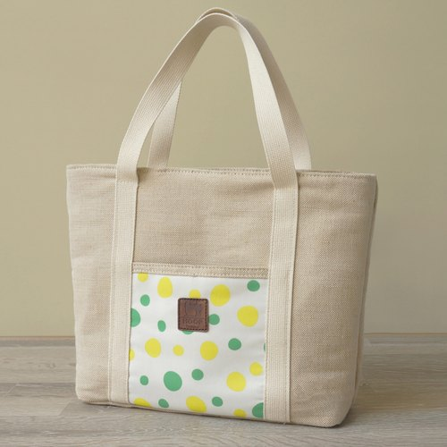 """Feel flax series"" Mosaic Tote - colorful summer"