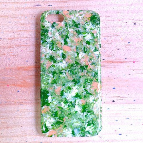 Pastoral series Matcha ll ll breath of spring air hand-painted oil Phone Case