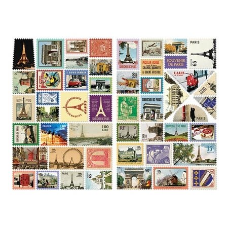 Dessin x 7321 Design- mini stamp sticker set V3- Paris, 7321-02023
