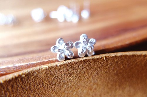 [SES] 999 sterling silver earrings - Five-petaled Flowers five flowers