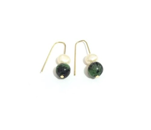 Trendy & Chic Ruby Zoisite Earrings