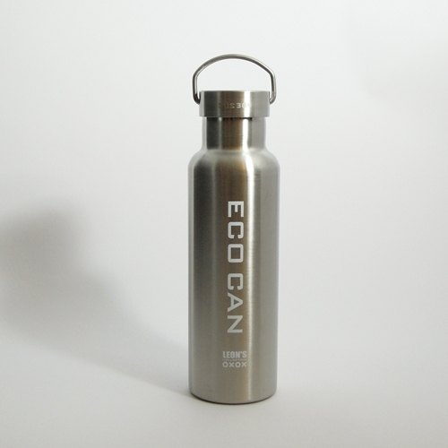 LEON'S stainless steel vacuum bottle - blue and white