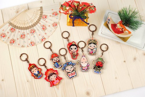 Set - Taiwan cultural characteristics*wood texture*key ring lock ring / key ring ※ Customizable wooden printing commemorative gifts ※