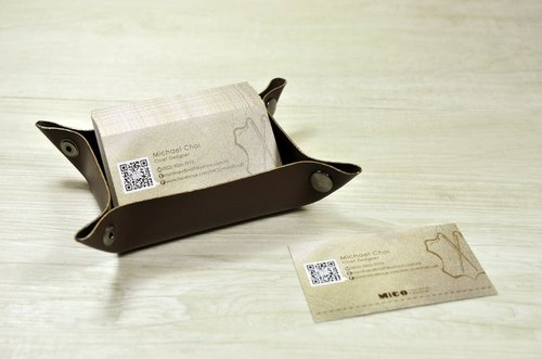 MICO leather business card