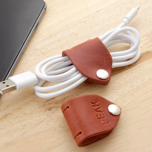 Personalize Cable Keeper / Leather cord organizer - Cable Holder- USB Holder