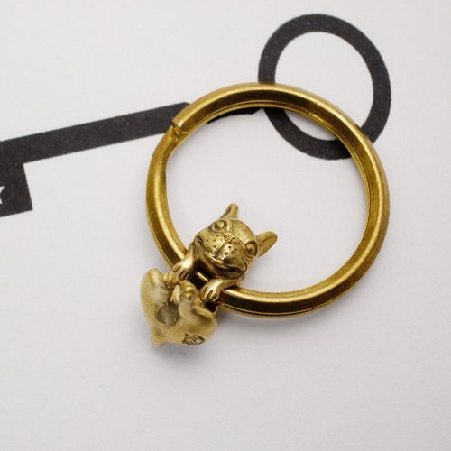 Thunk French bulldog key ring / Good Luck Charm Keychain