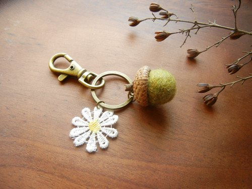 *Coucoubird*fat Acorn flower pendant / multi-color optional