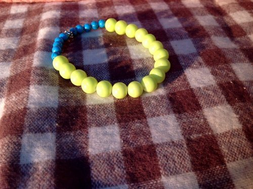 ∞ blue fluorescent yellow bracelet