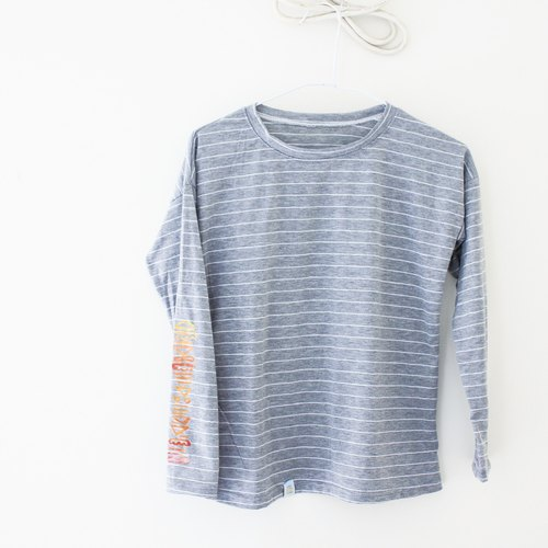 [Yi-Lake] shoulder striped T: attractive Hamburg