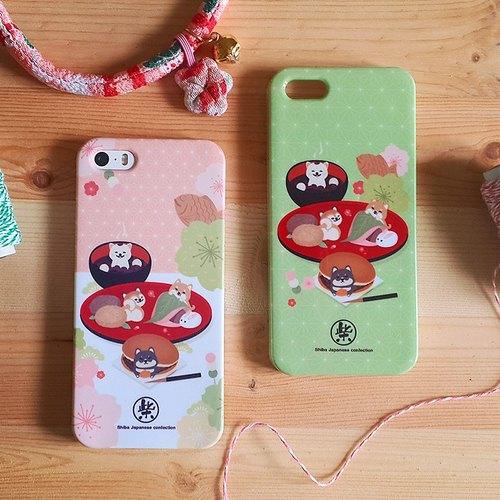 Shiba Inu Phone Case - Japanese and fruit (variety of models)