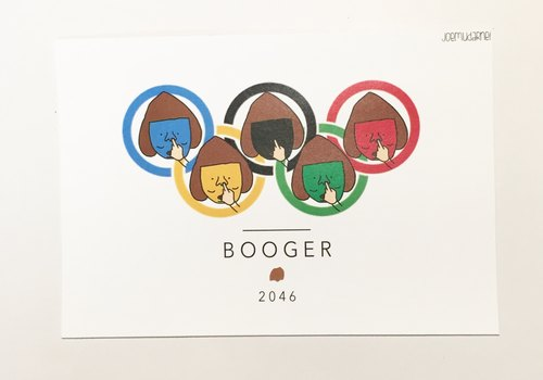 Booger Olympic Postcard
