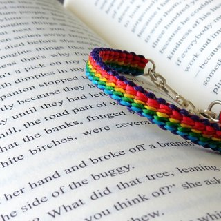 Pure silver ******fashion lucky pray silk wax bracelet***Rainbow**** Fourteen series