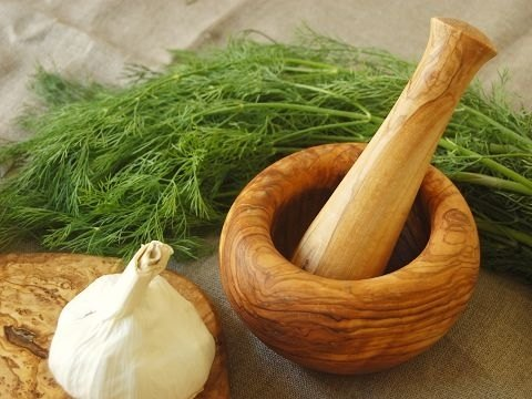 Olive wood pestle and mortar Wood Series / vanilla mashed pot**Shipping in**