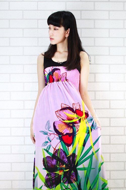 Flower World vest long dress