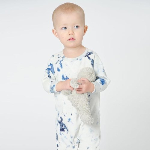 Swedish organic cotton clothing (9M ~ 2 years and a half) natural handmade dyed knit dress Shampoodle Dip Romper baby coveralls