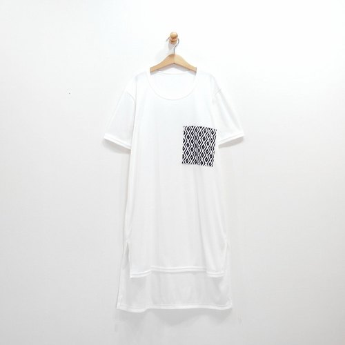 [CrazyBaby] totem jacket pocket short in front long / short sleeve