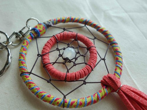 ~ M + Bear ~ Dreamcatcher Dreamcatcher (key ring / red)