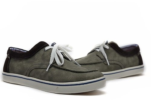 Temple filial piety election Suede mosaic Maka canvas shoes khaki
