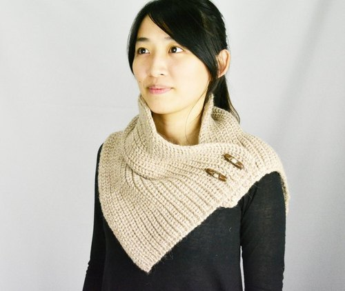 Alpaca wool hand-woven shawl _ _ camel fair trade