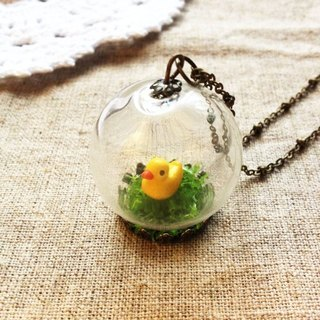 [Imykaka] ♥ crystal ball duck grass necklace Valentine